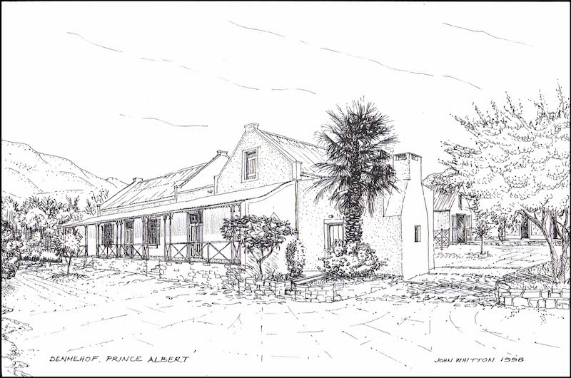 Dennehof, Prince Albert. Drawing by John Whitton